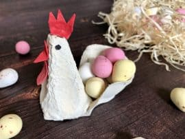 How To Make Easter Egg Carton Chickens