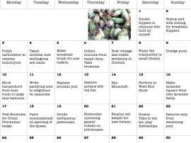 October Calendar by Emily Beckloff