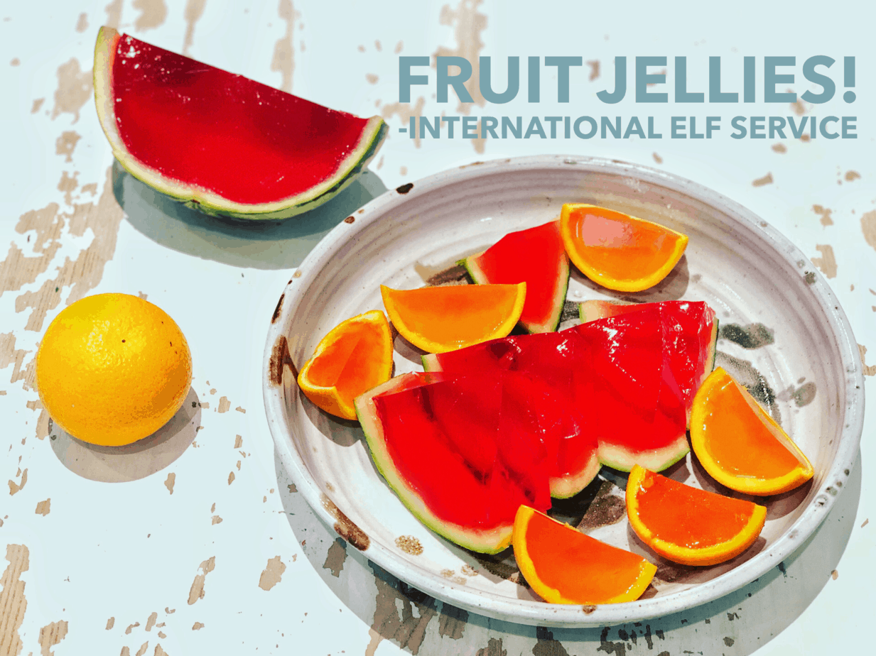 Surprise the kids with watermelon or orange jellies! Perfect for parties, or to enjoy any time as a special treat. International Elf Service