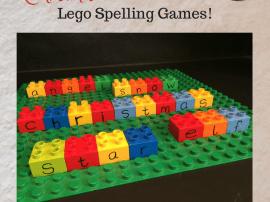 Christmas Lego Spelling Games!