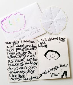 A letter from a little girl who received Magical deliveries of personalised letters from the International Elf Service in the North Pole